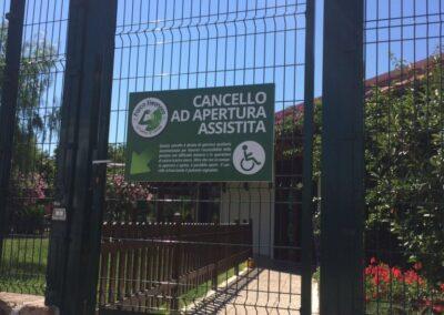 APERTURA CANCELLO PEDONALE IN MODALITA' MANUALE nice protec