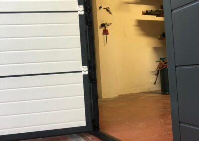 porta pedonale su serranda
